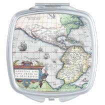 Map of Americas New World 1570 Mirrors For Makeup at Zazzle