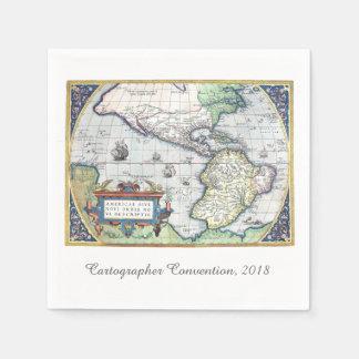 Map of Americas New World 1570 Napkin