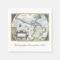 Map of Americas New World 1570 Paper Napkins at Zazzle