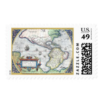 Map of Americas New World 1570 Postage Stamp at Zazzle