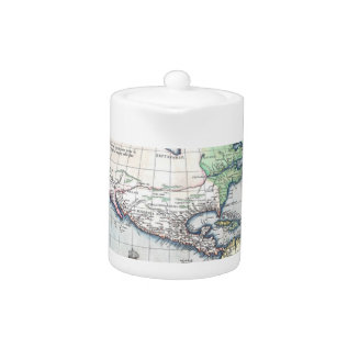 Map Of Americas New World 1570 Teapot at Zazzle