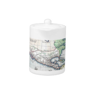 Map of Americas New World 1570 Teapot