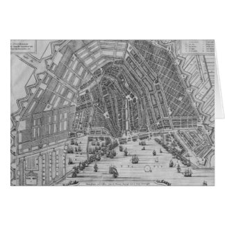 Map of Amsterdam, 1662 Card