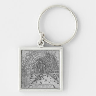 Map of Amsterdam, 1662 Keychain