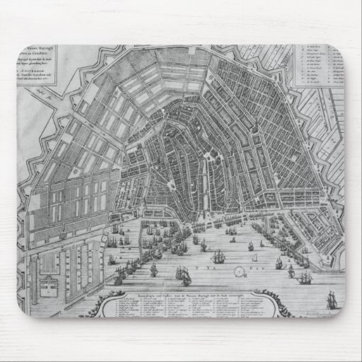 Map of Amsterdam, 1662 Mouse Pad