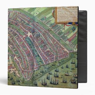 Map of Amsterdam, from 'Civitates Orbis Terrarum' Binder