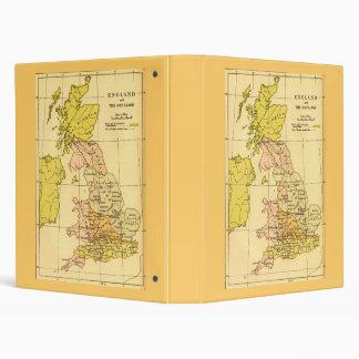 Map of Ancient Britain 3 Ring Binder