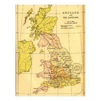 Map of Ancient Britain Postcard