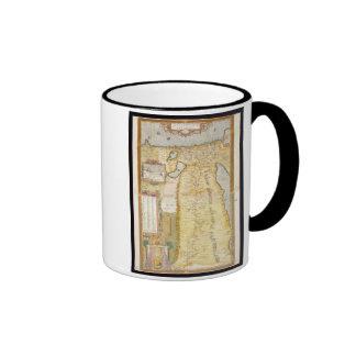 Map of Ancient Egypt, 1584 Ringer Coffee Mug