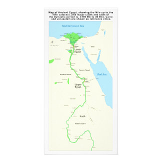 Map of Ancient Egypt Dynastic Period Card