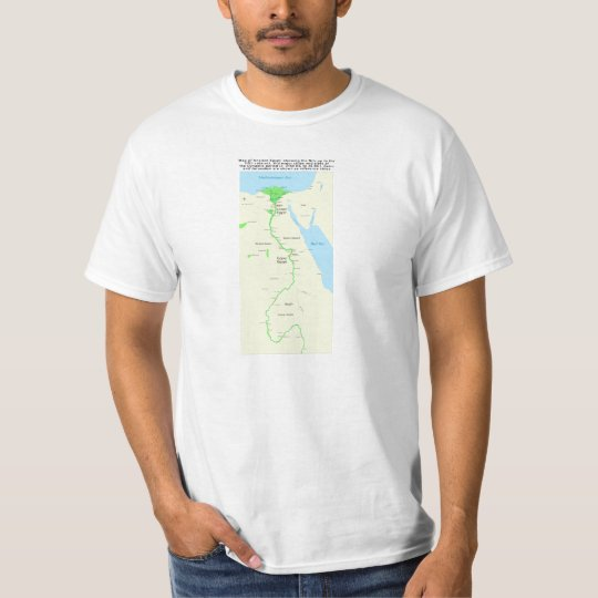 Map of Ancient Egypt Dynastic Period T-Shirt
