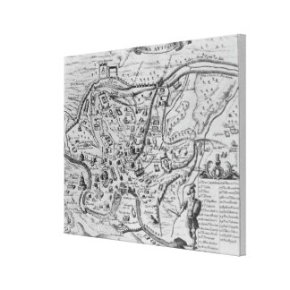 Map of Ancient Rome Canvas Print
