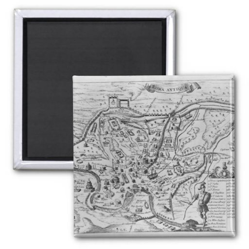 Map of Ancient Rome Magnets
