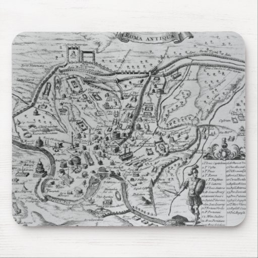 Map of Ancient Rome Mouse Pads