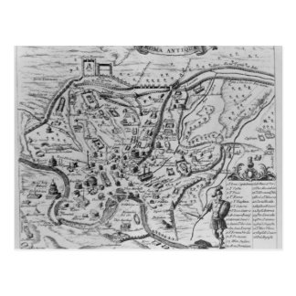 Map of Ancient Rome Postcard