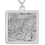 Map of Ancient Rome Square Pendant Necklace