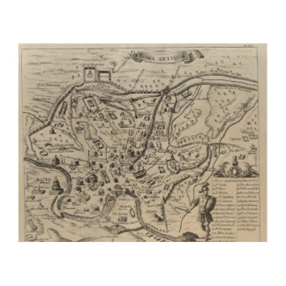 Map of Ancient Rome Wood Print