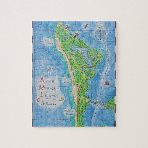 Map of Anna Maria Island Jigsaw Puzzle