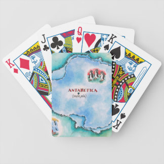 Map of Antarctica Bicycle Playing Cards