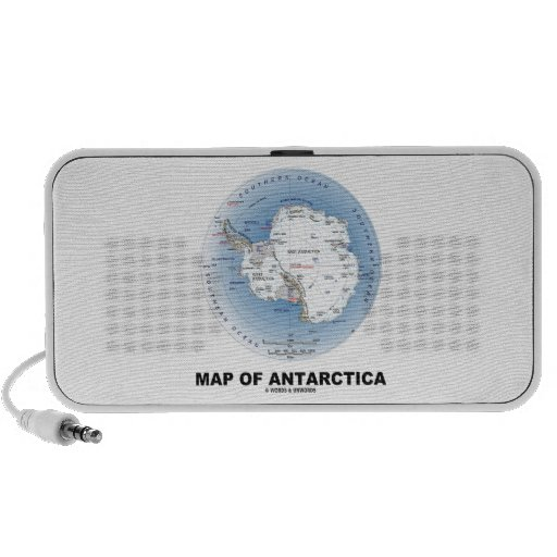 Map Of Antarctica (Geography) Mp3 Speaker