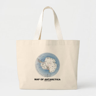 Map Of Antarctica (Geography) Tote Bags