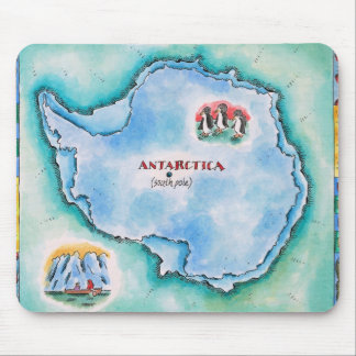 Map of Antarctica Mouse Pad