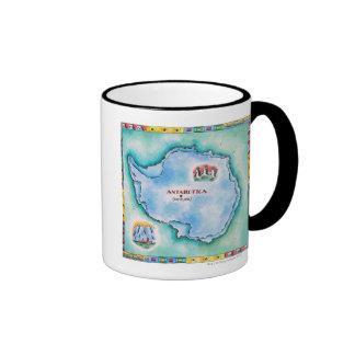 Map of Antarctica Ringer Mug
