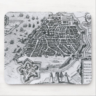 Map of Antwerp, 1598 Mouse Pad