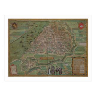 Map of Antwerp, from 'Civitates Orbis Terrarum' by Postcard