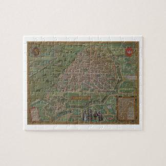 Map of Antwerp, from 'Civitates Orbis Terrarum' by Puzzle
