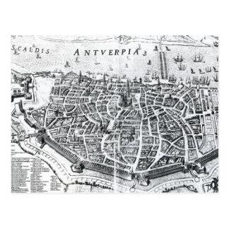 Map of Antwerp Postcard