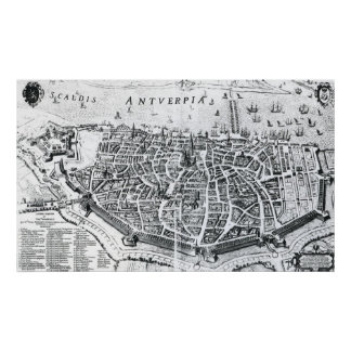 Map of Antwerp Poster