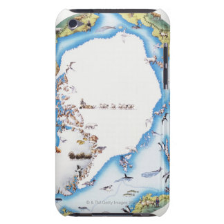 Map of Arctic Barely There iPod Case
