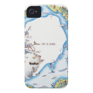 Map of Arctic iPhone 4 Cover