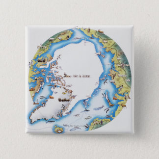 Map of Arctic Pinback Button