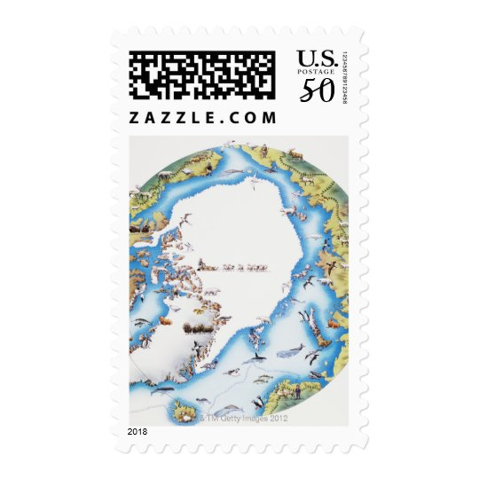 Map of Arctic Postage