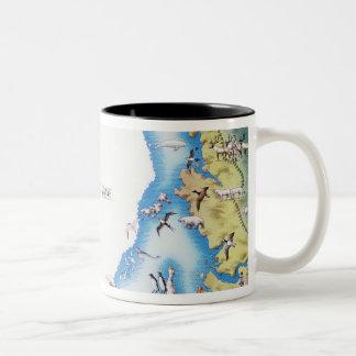 Map of Arctic Two-Tone Coffee Mug