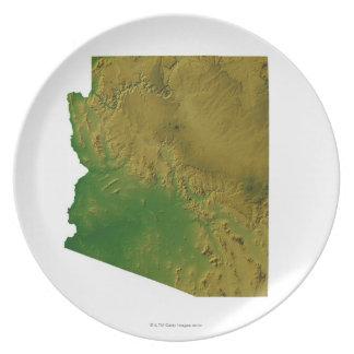 Map of Arizona Plate