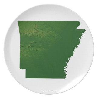 Map of Arkansas Dinner Plate