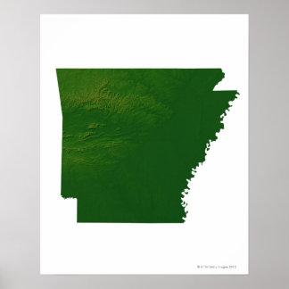 Map of Arkansas Poster
