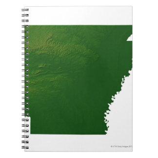 Map of Arkansas Spiral Notebook