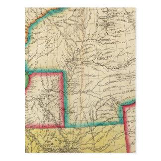 Map Of Arkansas Territory Postcard