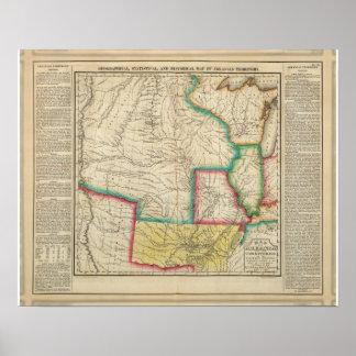 Map Of Arkansas Territory Posters