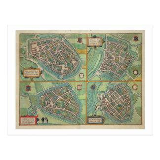 Map of Arnhem, Velmo, Gelre, and Ruerm, from 'Civi Postcard