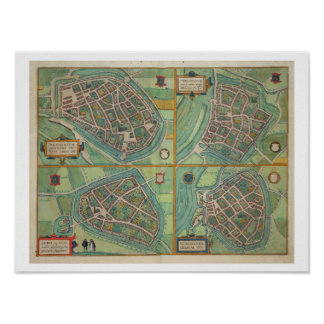 Map of Arnhem, Velmo, Gelre, and Ruerm, from 'Civi Poster