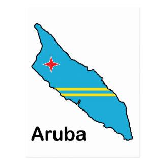 Map Of Aruba Postcard