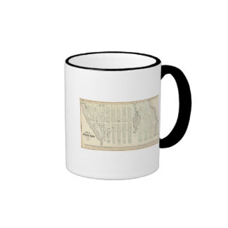 Map of Asbury Park, Monmouth County, New Jersey Ringer Coffee Mug