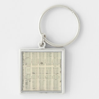 Map of Asbury Park, Monmouth County, New Jersey Silver-Colored Square Keychain