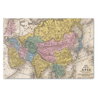 """Map of Asia 10"""" X 15"""" Tissue Paper"""