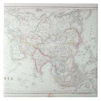 Map of Asia 2 Ceramic Tile